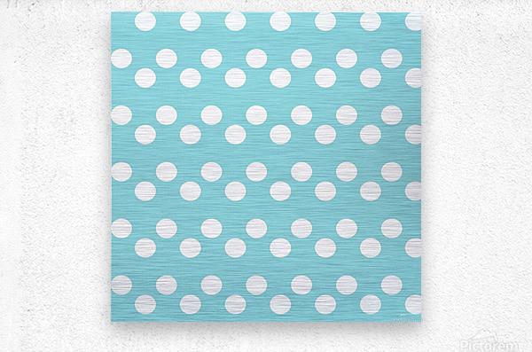 Island Paradise Polka Dots  Metal print