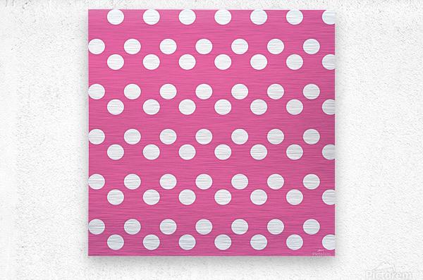 HOT PINK Polka Dots  Metal print