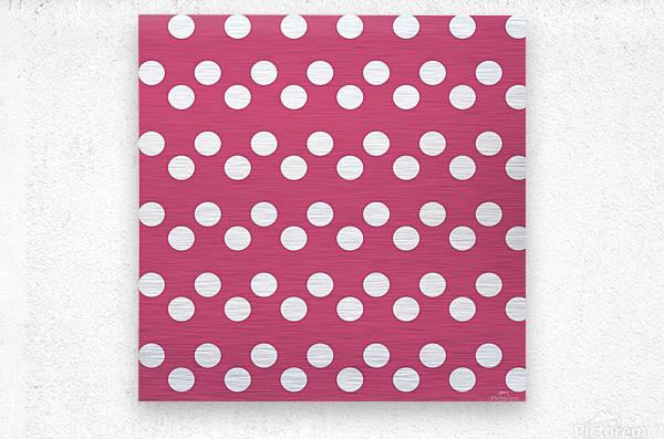 CRANBERRY Polka Dots  Metal print