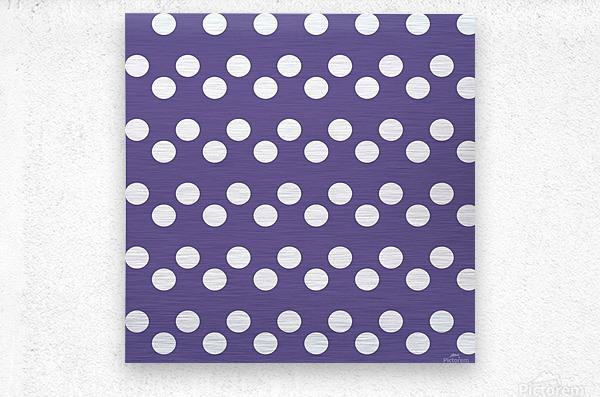 Ultra Violet Polka Dots  Metal print