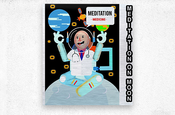 Meditation motivation   Metal print