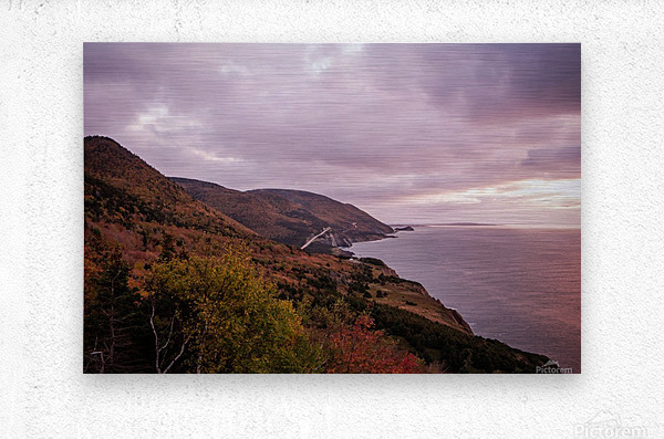 Cabot Trail in the fall  Metal print