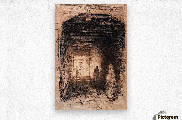 The Beggars by Whistler  Metal print