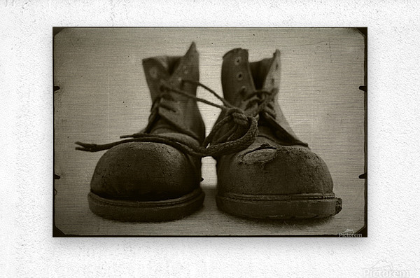 OLD BOOTS  Metal print