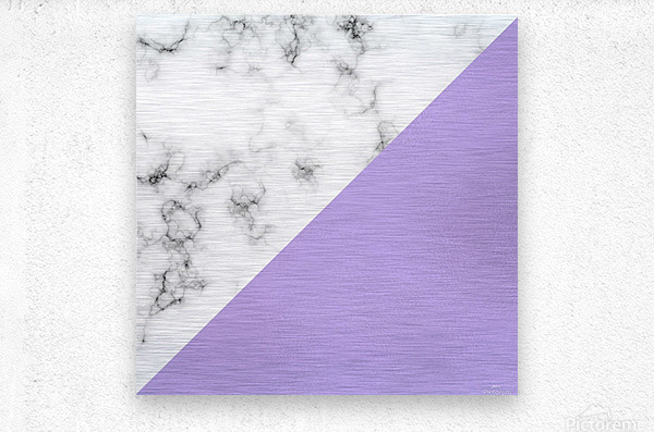 ABSTRACT MODERN PURPLE GLASS MARBLE  Metal print