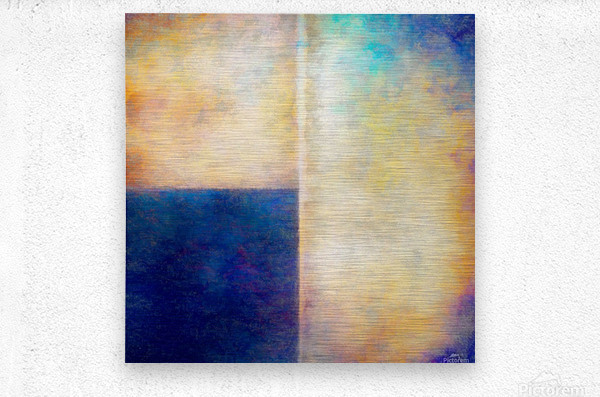 Blue Zone  Metal print
