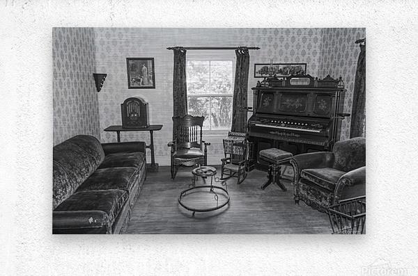 Thomas Organ and piano Company organ bw  Metal print