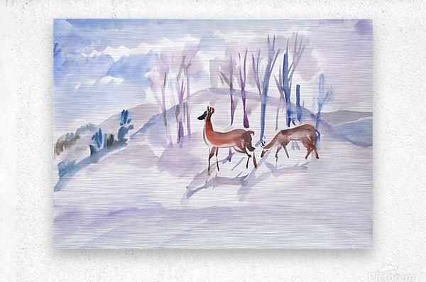 Roe Deers  Metal print