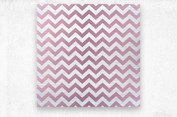 PINKY SHADE CHEVRON  Metal print
