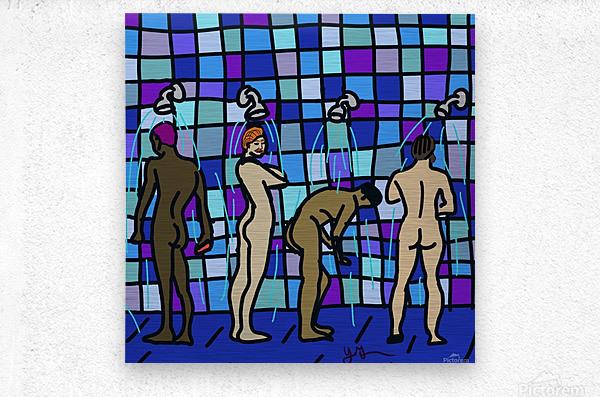 Shower Boys  Metal print