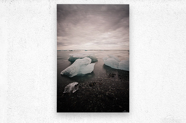 Drift ice  Metal print