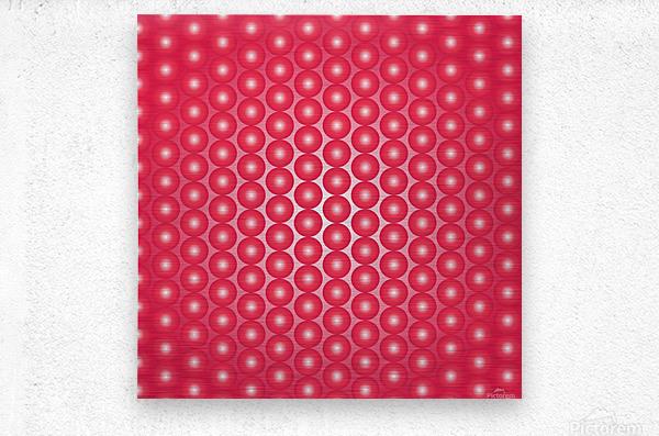 Red Pearl Pattern  Metal print