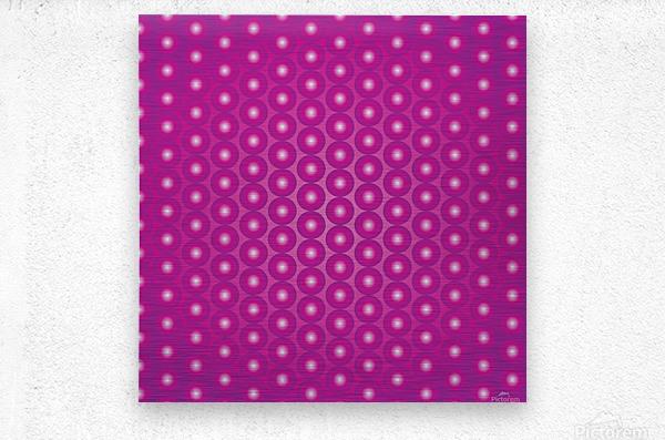 Magenta Pearl Pattern  Metal print