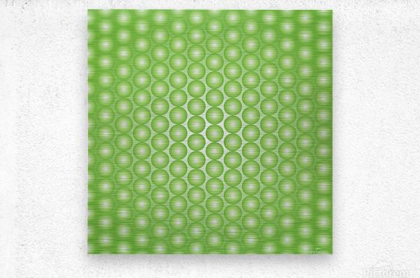 Yellow Green Pearl Pattern  Metal print