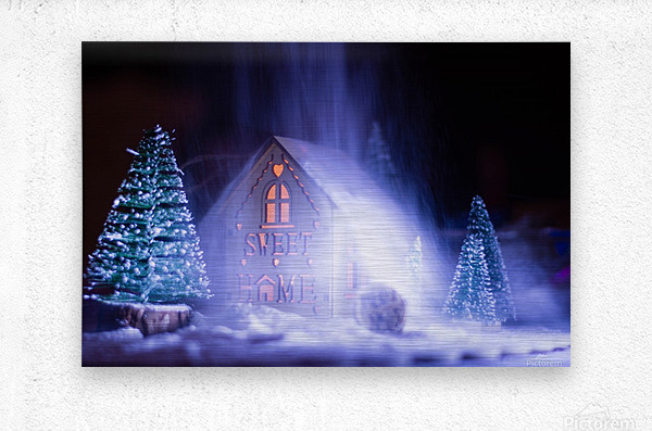 Christmas is coming  Metal print