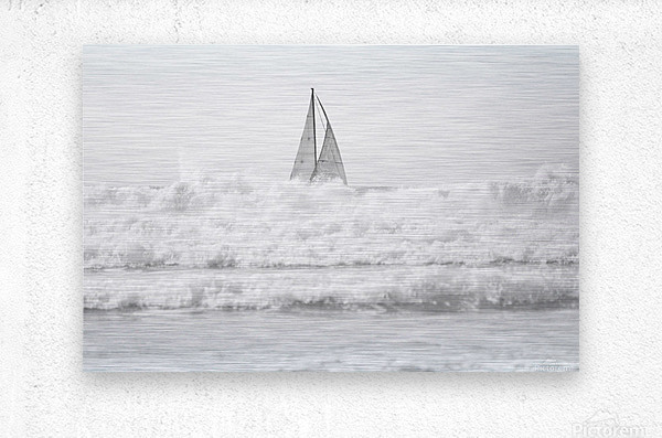 SAILING IN THE SURF  Metal print