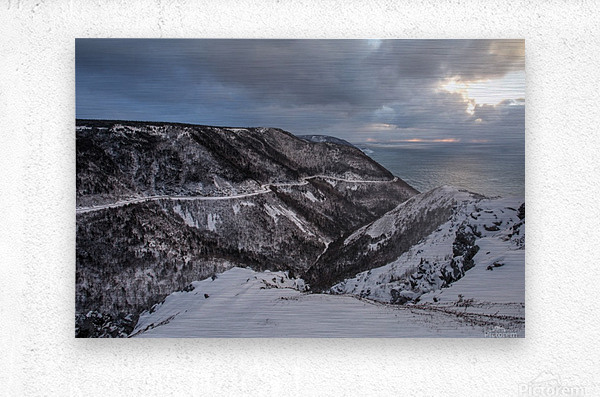 Snowy Skyline  Metal print