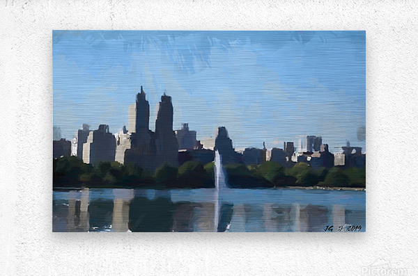 NY_CENTRAL PARK_View 070  Metal print