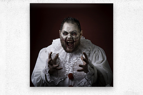 Scary Evil Clown  Metal print