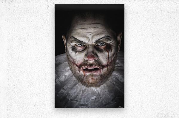 Scary Evil Clown  Metal print
