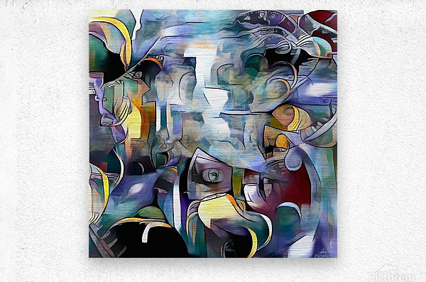 Illusion of Existence  Metal print