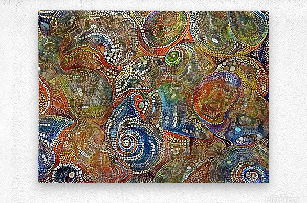 Mosaic Seashells  Metal print