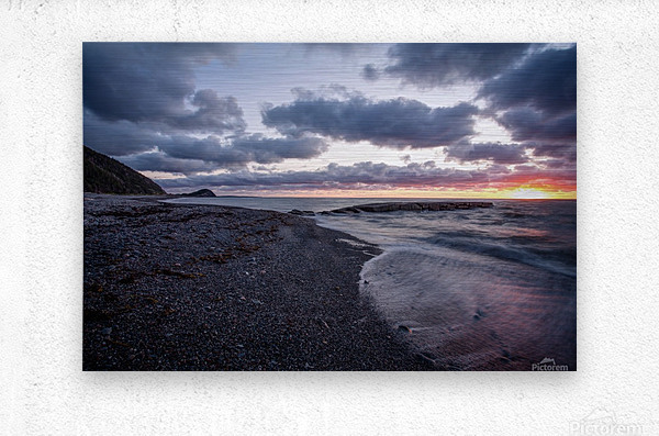 Washed by the sea  Metal print