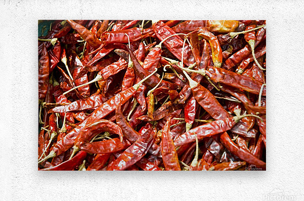 RED CHILLI PEPPERS  Metal print