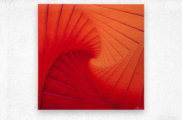 Composition Vermillon  Metal print