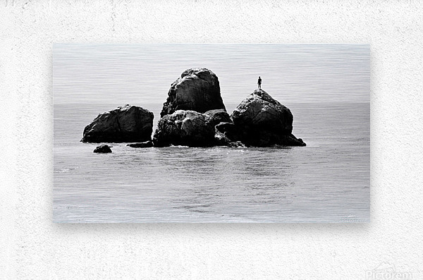 ROCK MAN  Metal print