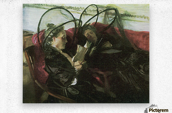 Mosquito nets by John Singer Sargent  Metal print