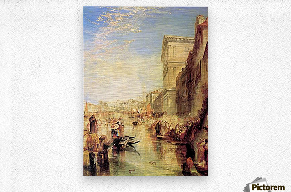 The grand canal in Venice by Joseph Mallord Turner  Metal print