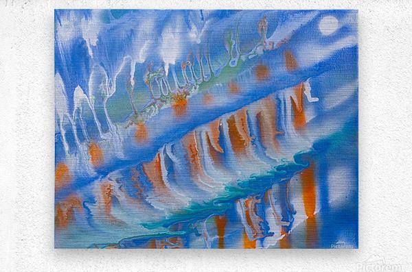 THE WAVES  Metal print