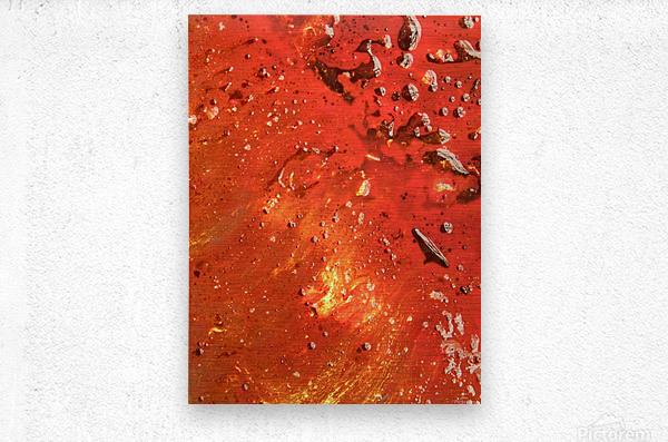 GOLDEN NEBULA 2  Metal print