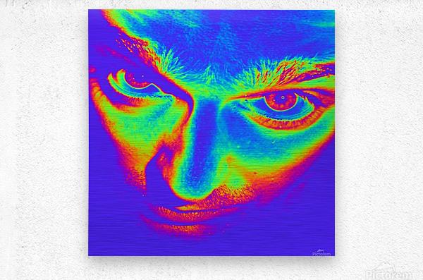 Crazy eyes  Metal print