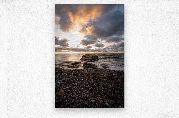 Chase the light  Metal print