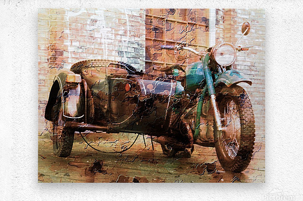The Backroads of My Mind  Metal print