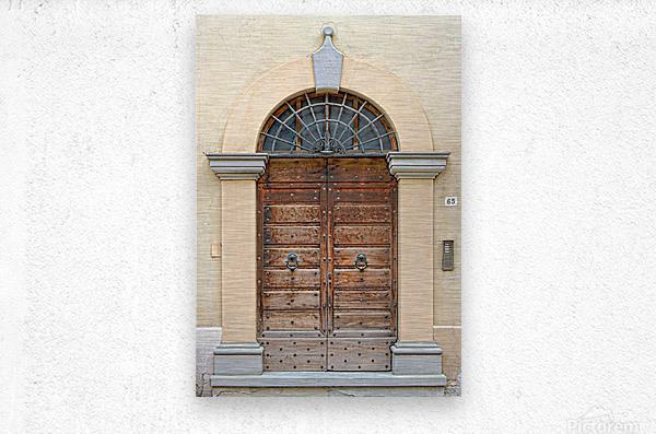 Old Wooden Door Tavernelle  Metal print