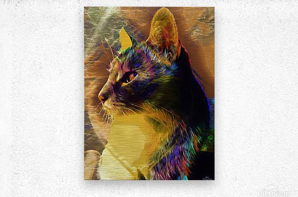 Cat Spirit Guide  Metal print
