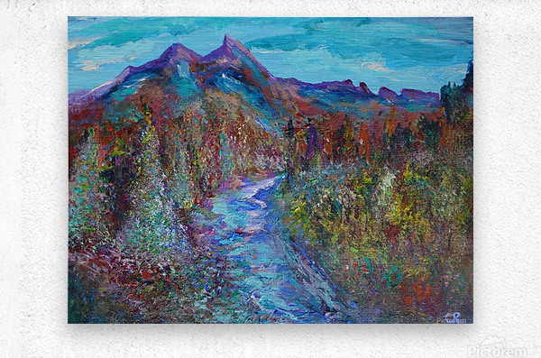 Maroon Bells and Maroon Creek Snowmass Wilderness Area  Metal print