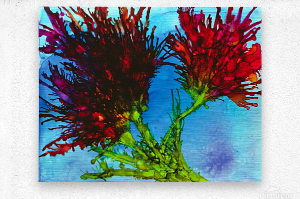 Wicked Flower   Metal print