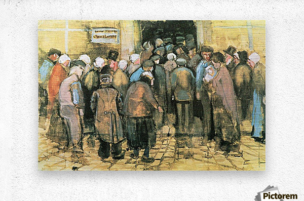 The National Lottery by Van Gogh  Metal print