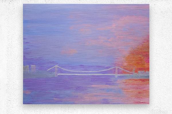 George Washington Bridge Sunrise  Metal print