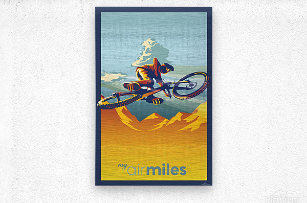 my air miles  Metal print