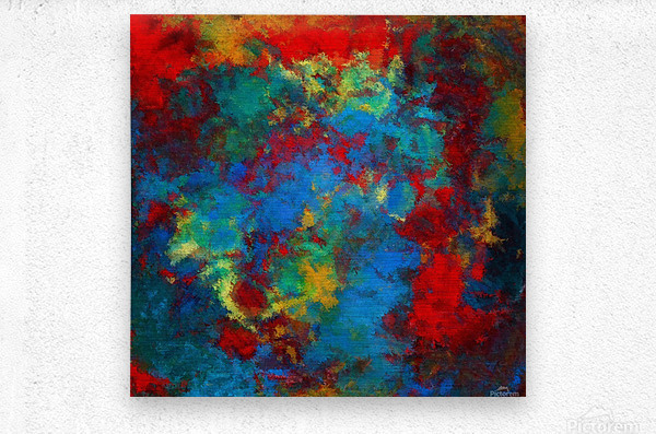 A Storm of Blood and Blue  Metal print