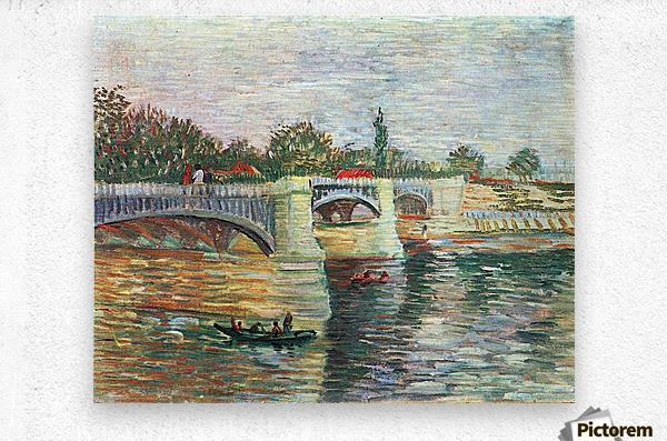 The Seine with the Pont de la Grande Jatte by Van Gogh  Metal print