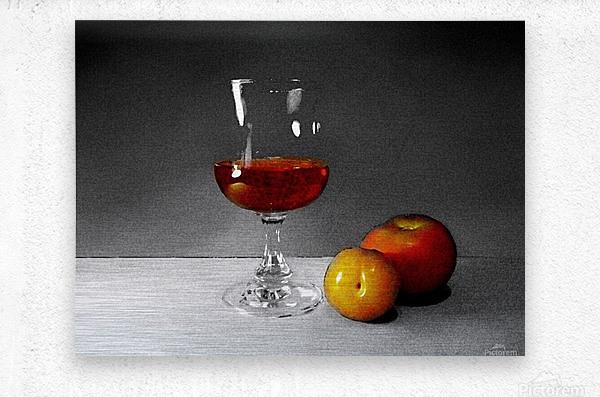 Wine and Fruits  Metal print