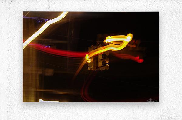 Speeding Stop  Metal print
