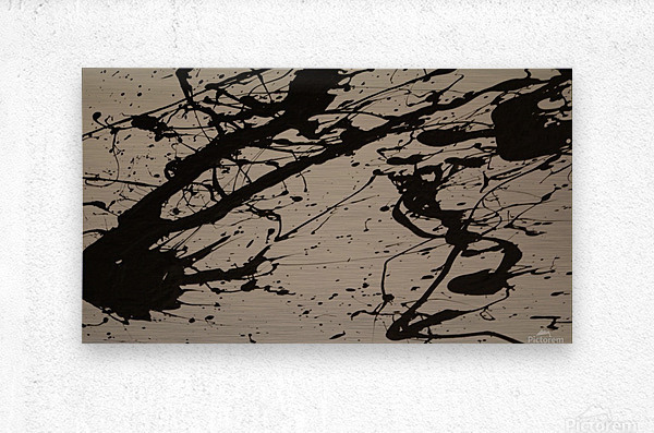 Ink Test  Metal print
