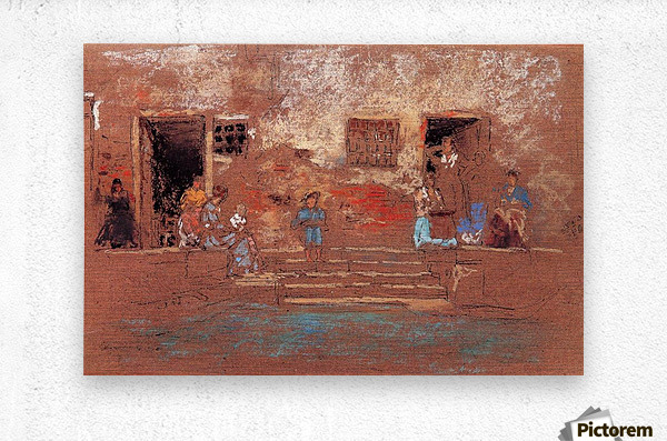 The Steps by Whistler  Metal print